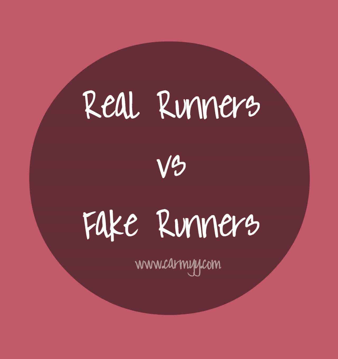 Real Runners vs Fake Runners