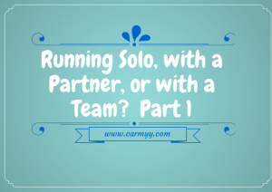 Running Solo, with a Partner, or with a