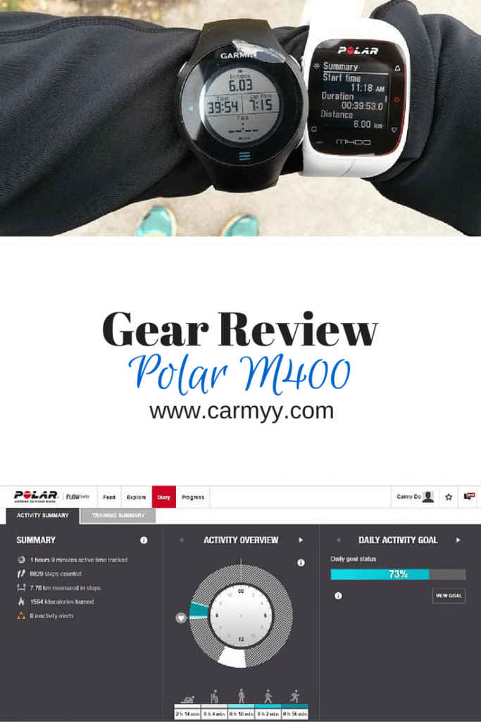 Gear Review Polar M400 Watch. Looking for a new gadget to help keep you in track for the new year or working out? Check out the Polar M400 via www.carmyy.com >> http://www.carmyy.com/polar-m400-gps-watch-review