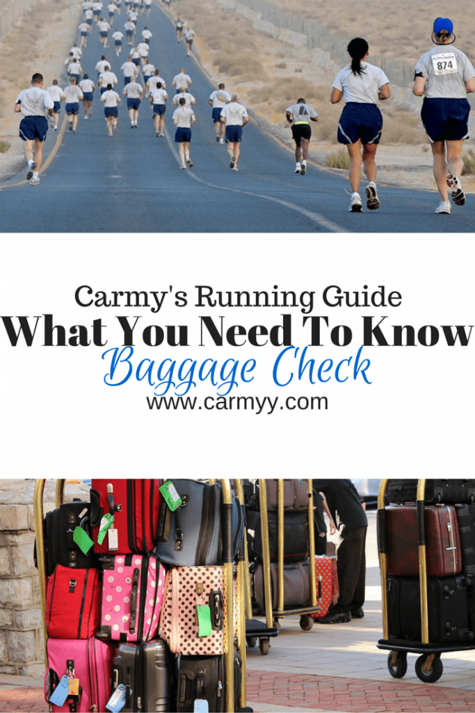 What You Need To Know: Baggage Check #running #fitness #race http://www.carmyy.com/baggage-check