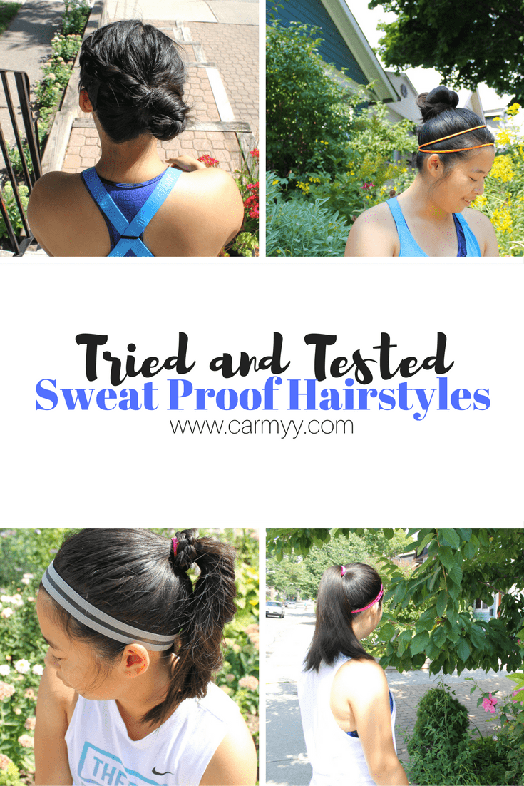 Sweat Proof Hairstyles - Carmy - Run Eat Travel