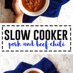 Easy Hearty Slow Cooker Pork and Beef Chili