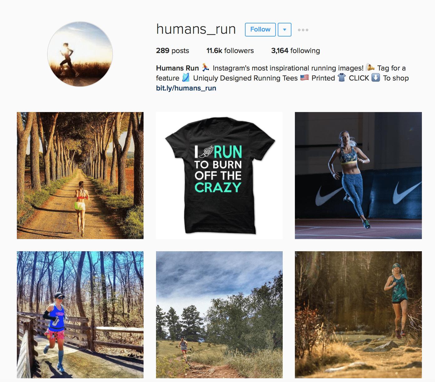 Running Instagram Accounts That Regram