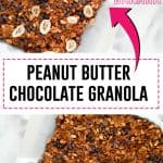 Peanut Butter Chocolate Granola