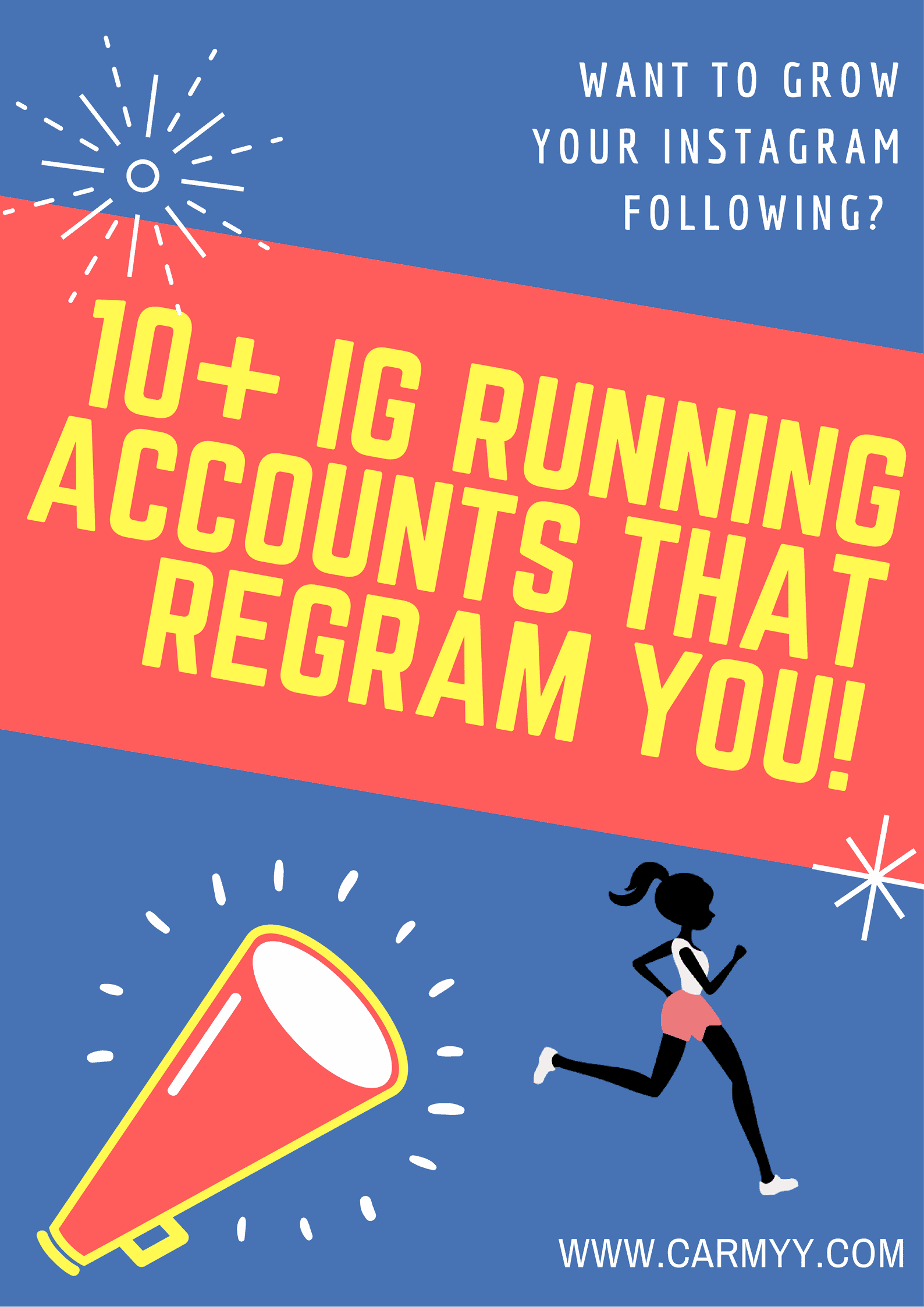 Want to grow your Instagram Following? Here are 10+ IG Running Accounts that Regram You!