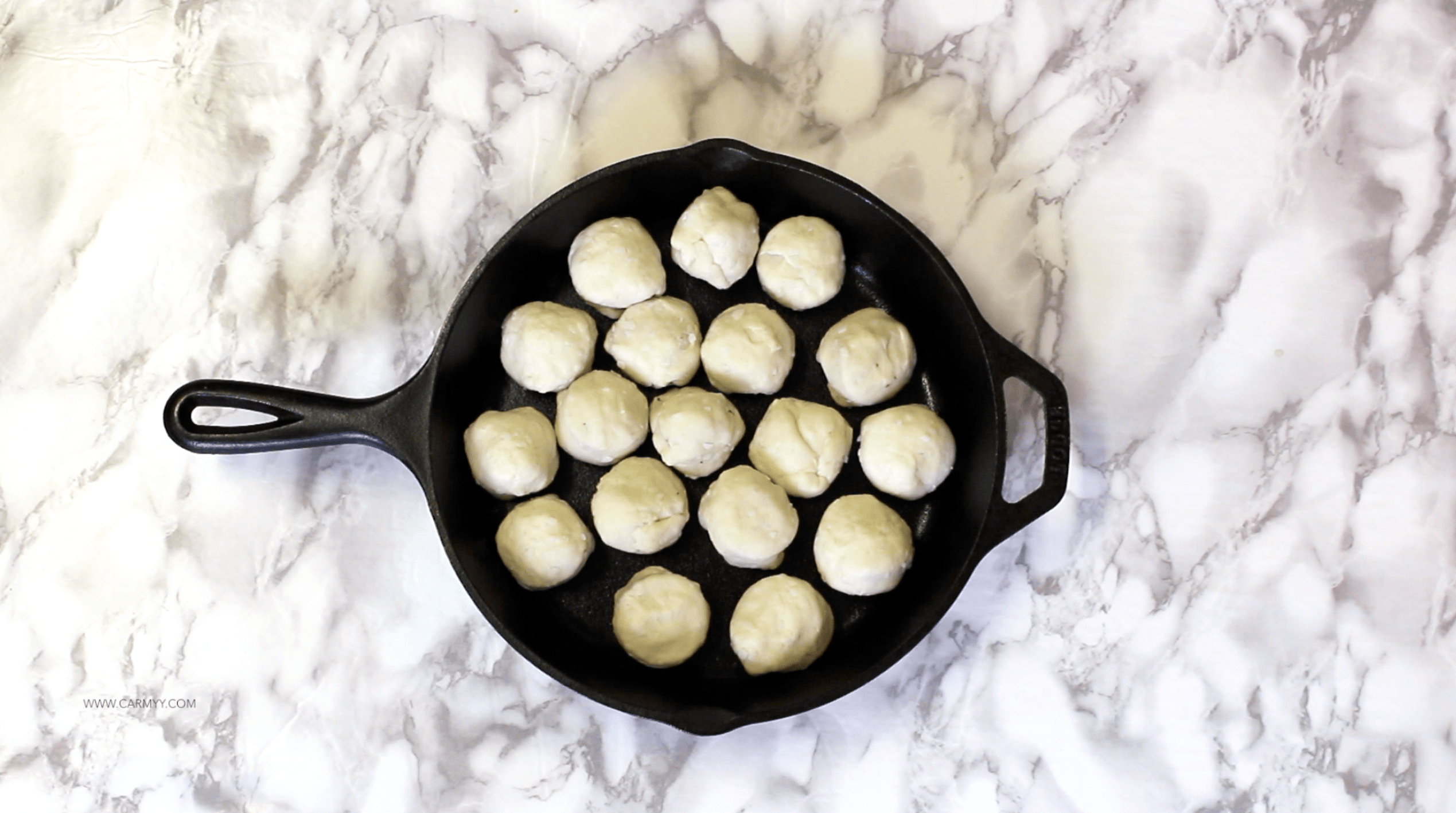 Pizza Balls/Pull Apart Bread in a Skillet