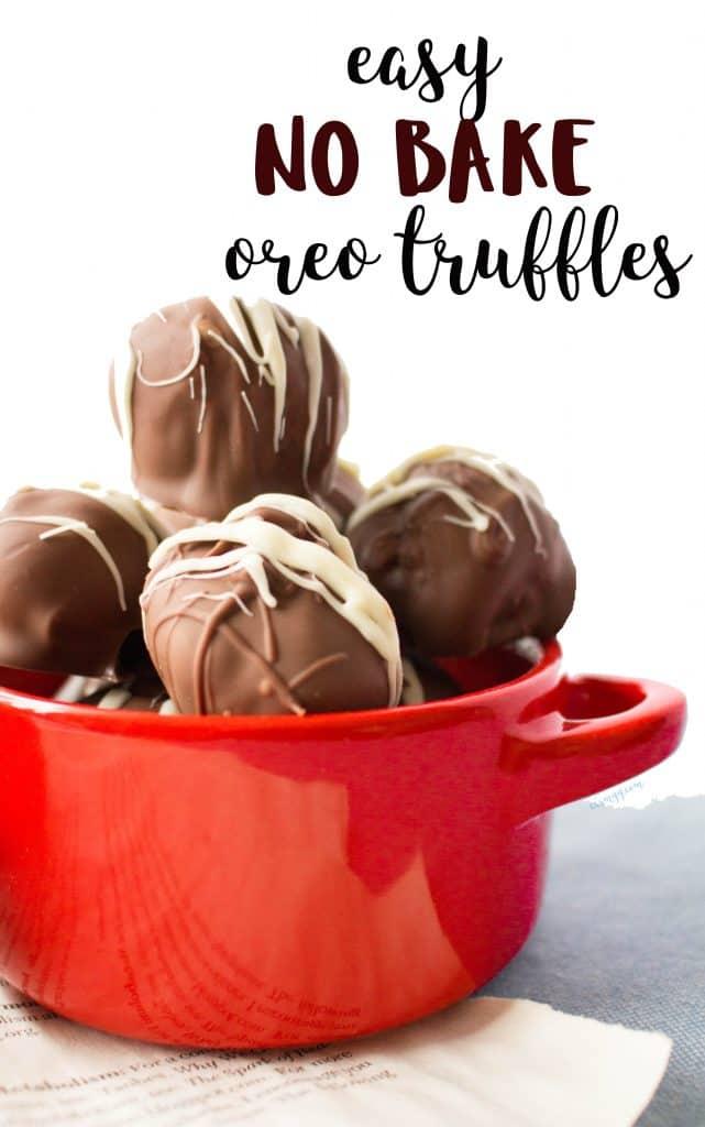 Easy No Bake Oreo Truffles #nobake #nobakedesserts #trufflerecipes #partydesserts