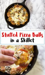 Pull Apart Pizza Balls in a Skillet