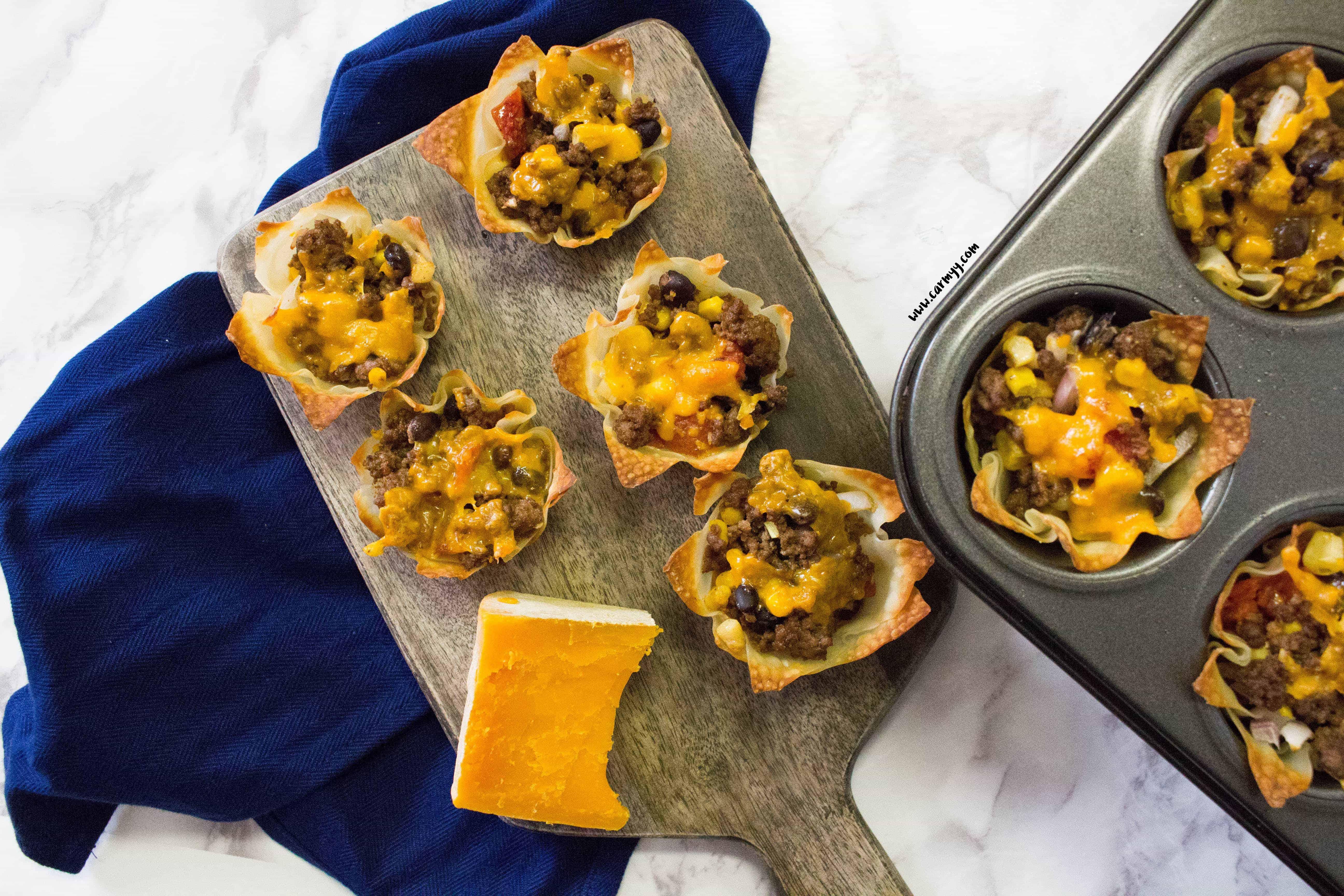 Crunchy Nacho Burrito Cups