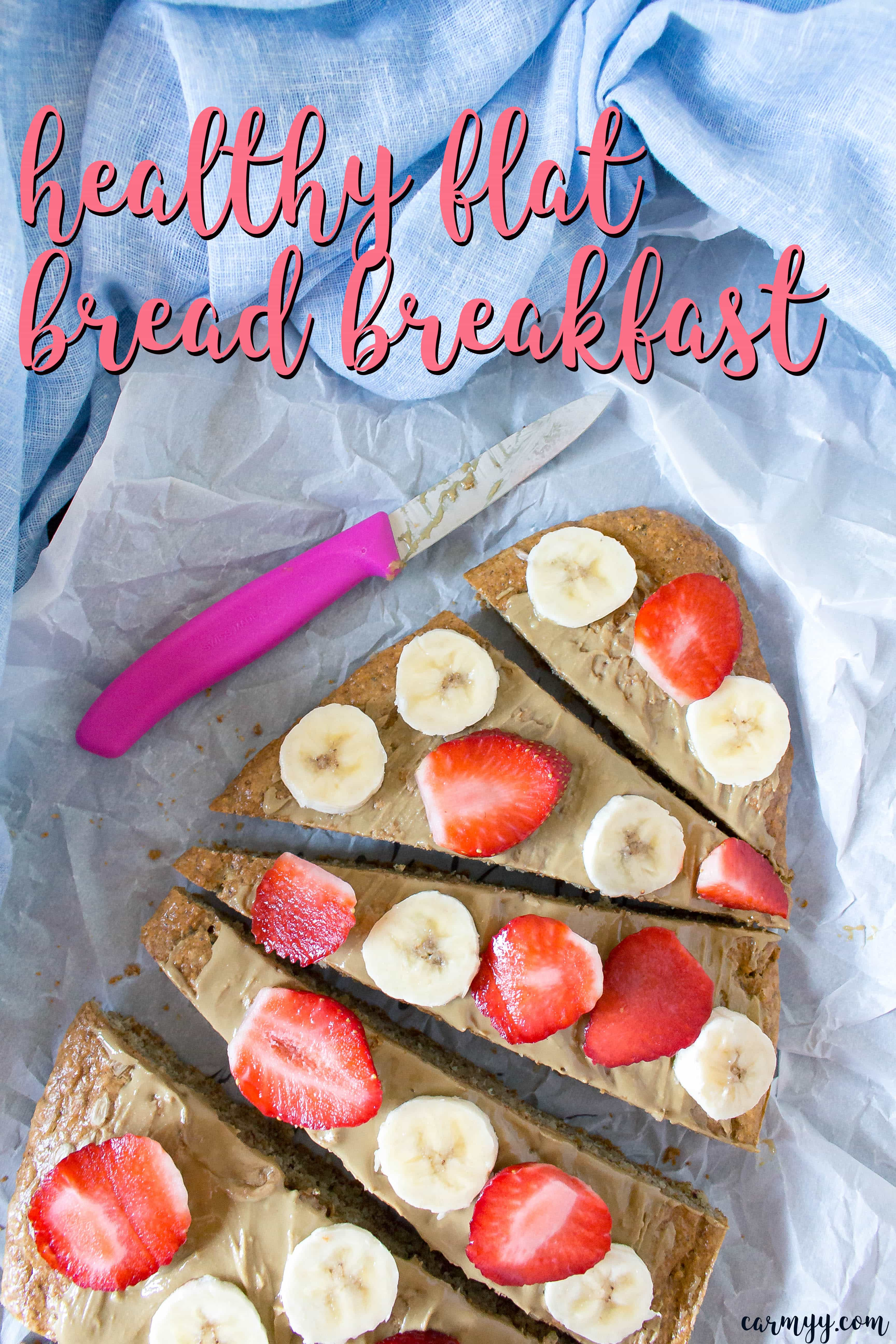 This healthy flat bread breakfast is the best way to start your day off right! Top it off with your favourite fruit and nut butter!