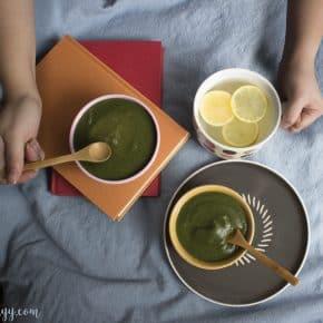 Creamy Spinach Potato Soup (no dairy) + video