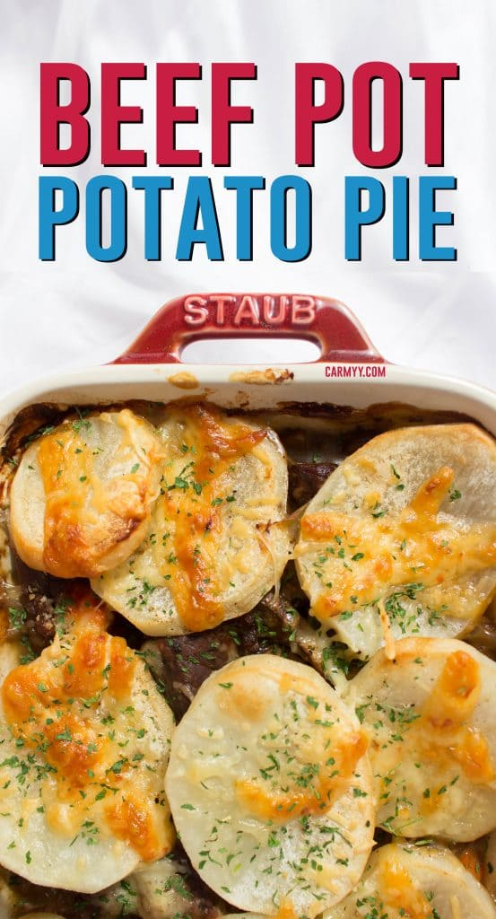 This hearty and delicious beef pot potato pie is the perfect comfort food for a rainy day.
