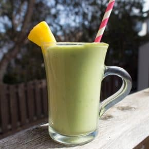 Healthy-ish Avocado Maple Pineapple Milkshake #Canada150!