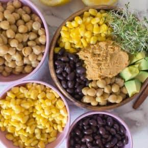 Taco Hummus Buddha Bowl
