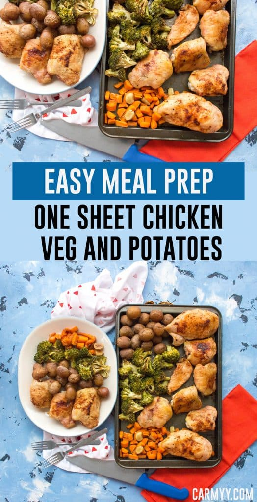 One Sheet Chicken Potatoes and Vegetables
