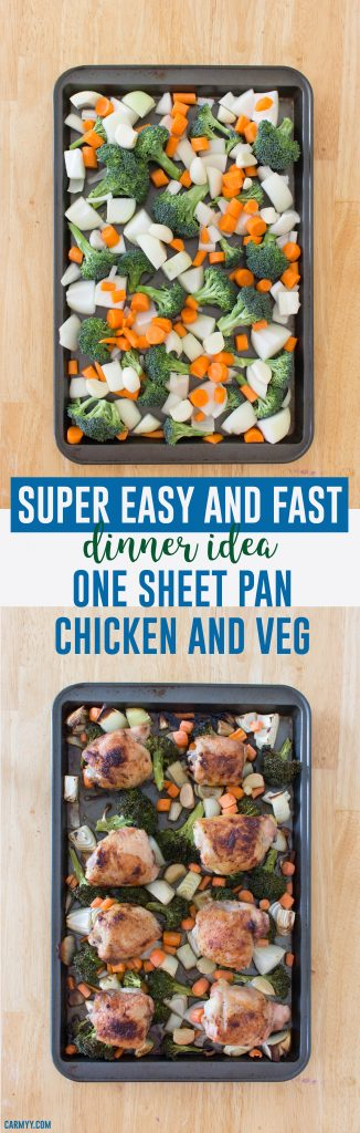 Need to fix something up in a spiffy? This One Sheet Pan Chicken and Vegetable is so fast and easy to make, you'll have dinner in no time!