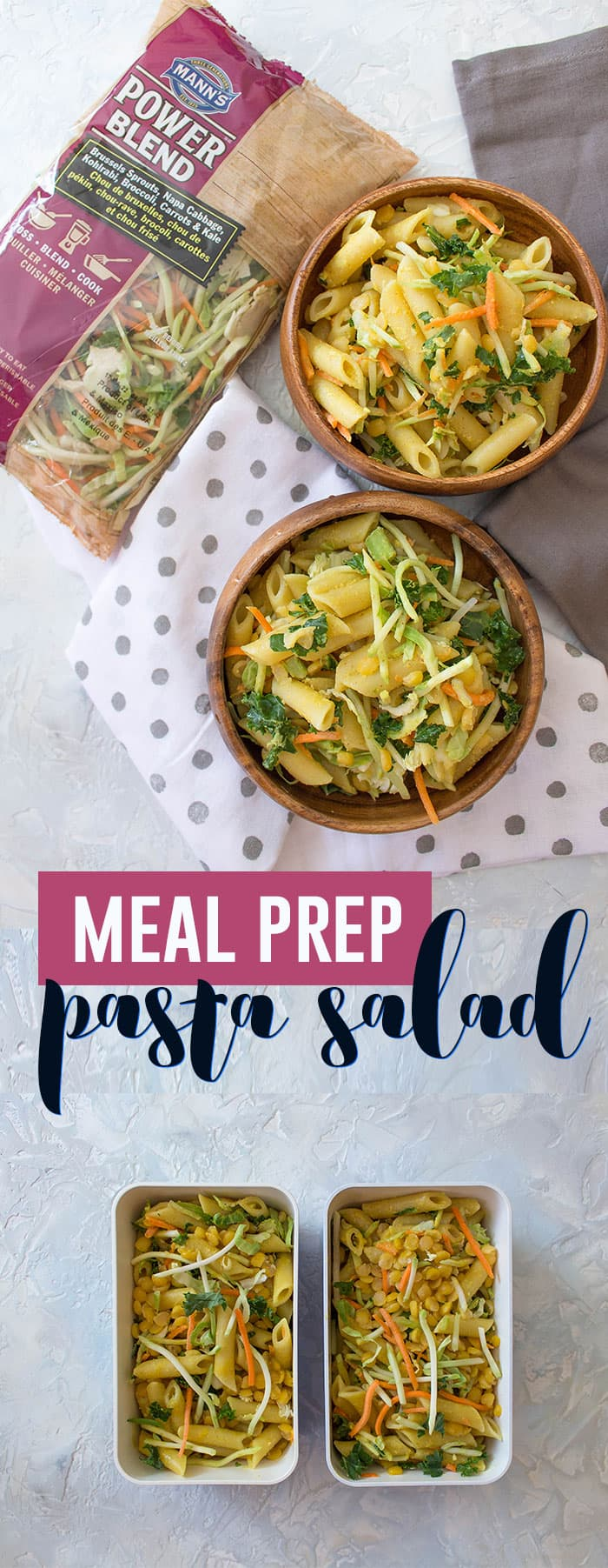 This meal prep pasta salad is perfect chilled for warm days or when you are heading somewhere without a microwave!