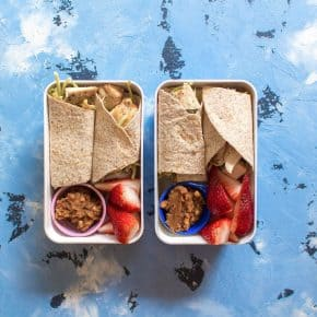 This Spicy Peanut Chicken Wrap is the perfect meal prep - it's simple, healthy and delicious and made under 30 minutes!
