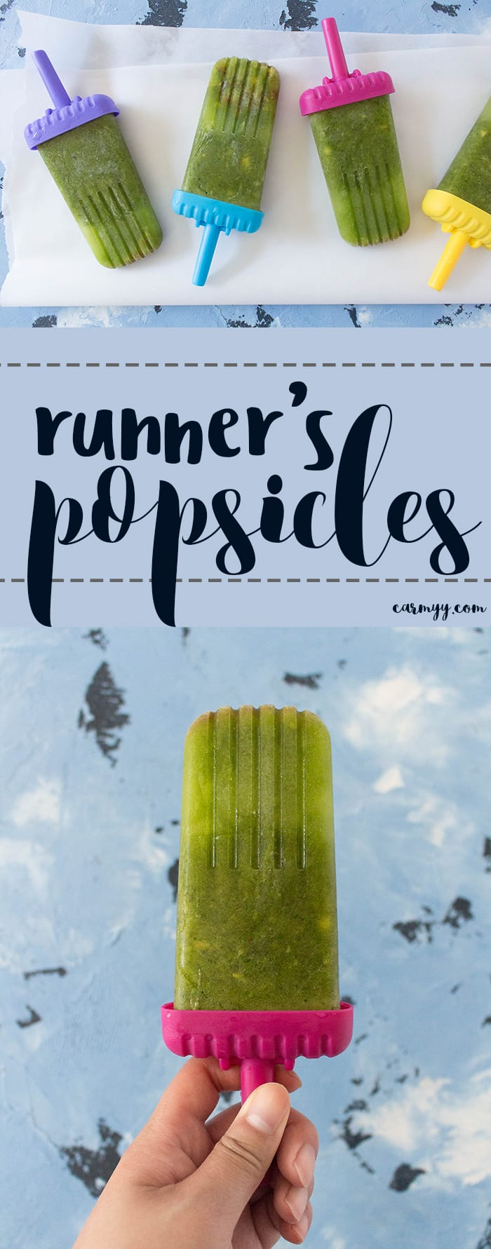 This Runner's Popsicle is the perfect popsicle for you to come home to after a hot summer run or as your pre-run fuel.