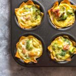 Need a breakfast meal prep idea? Why not try this delicious and fun breakfast wonton egg cups?