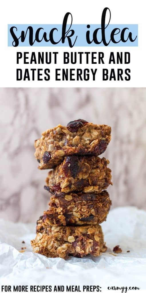 Need a yummy energy bar? Try this delicious and healthy peanut butter and dates energy bar!