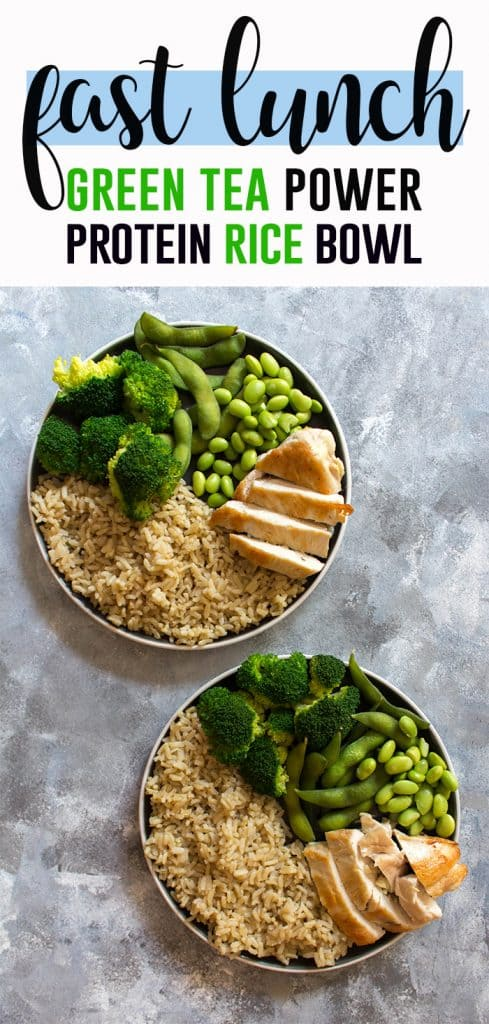 Need an afternoon pickup that fuels you for your after work run? Check out this Green Tea Power Protein Rice Bowl that'll get you ready for your after work run!