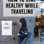 Need some tips on how to stay healthy while traveling? Today I break down simple ways to stay healthy while traveling!