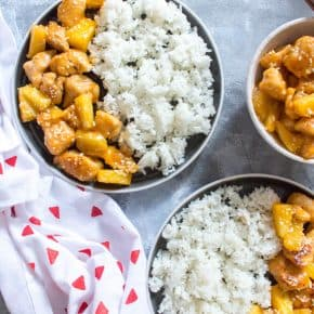 One Pan Spicy Pineapple Chicken Meal Prep