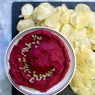 Delicious and easy to make, this tahini free beet hummus will be the star of the show!