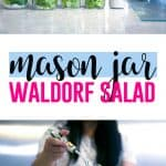 Staying Healthy with a Busy Schedule with Ann Kaplan + a Mason Jar Waldorf Salad #mealprep