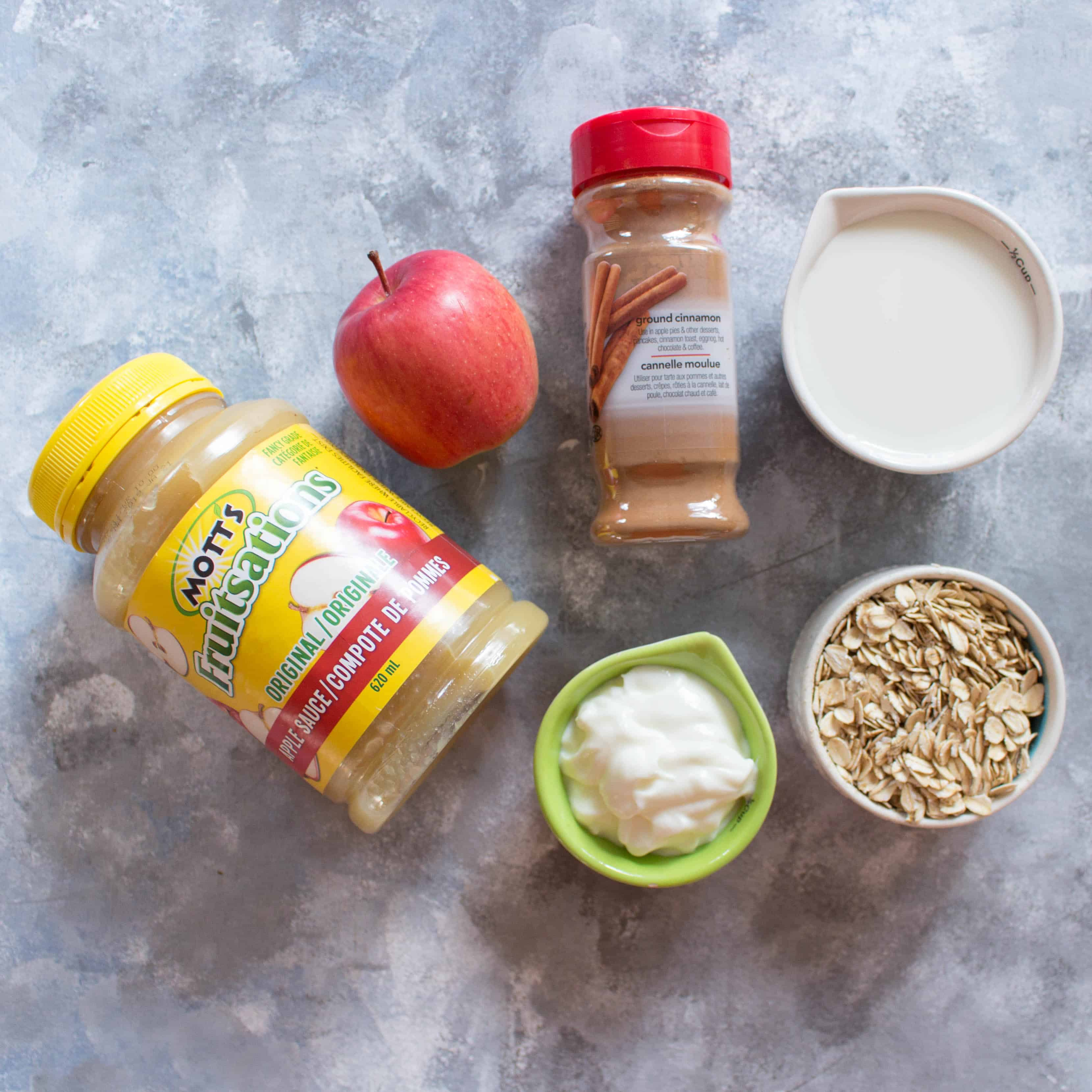 overnight oats 4 ways apple pie