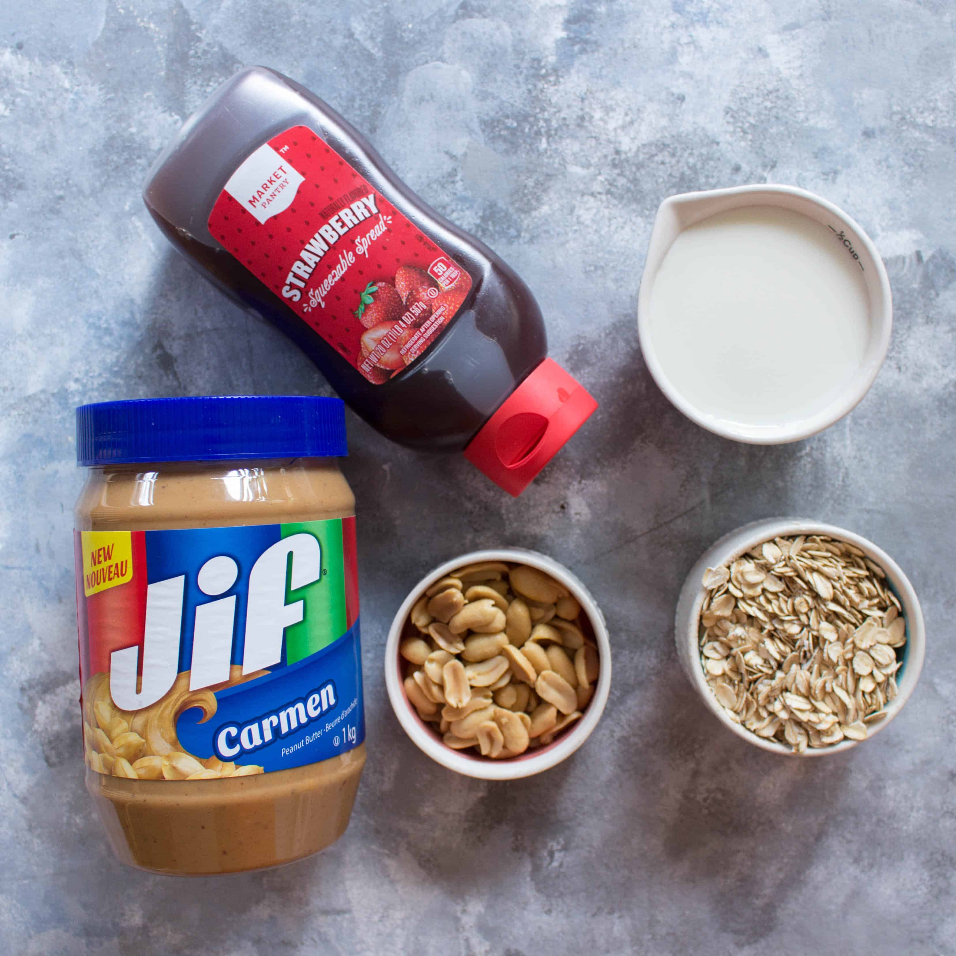 overnight oats 4 ways PB&J