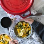 One Pot Cheese Tortellini with Butternut Squash Zig Zags & Spinach