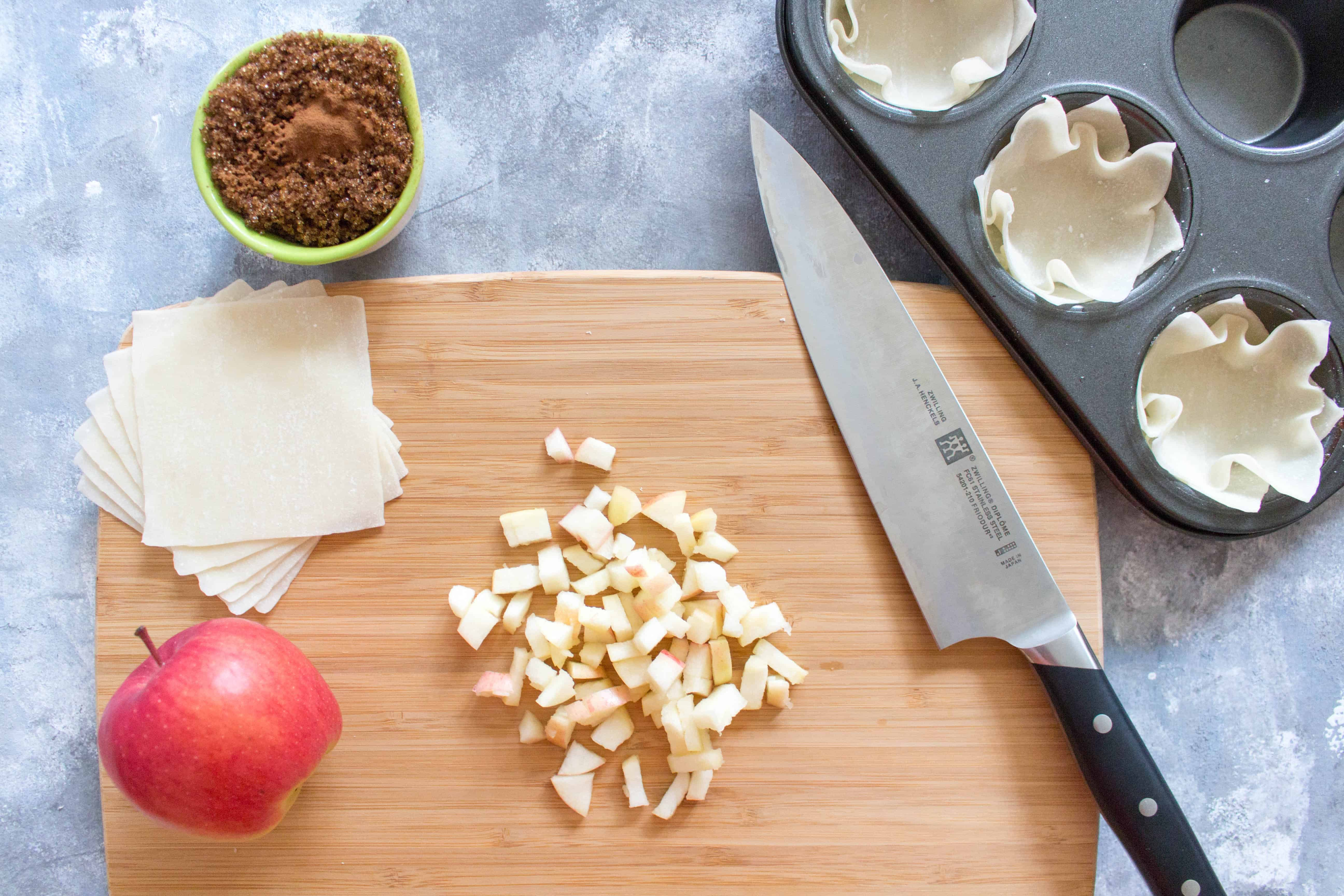 A fun new twist on your traditional apple pie. Plus, individual servings means less time spent cutting and more time eating!