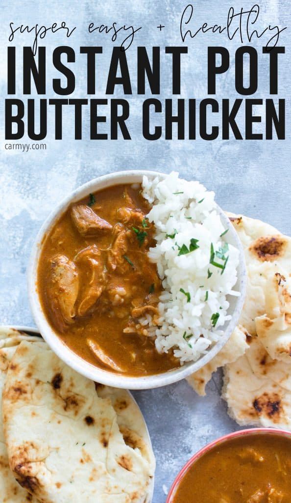 This Healthy Instant Pot Butter Chicken is a lightened up version that takes less than 30 minutes to make and is still rich and creamy.