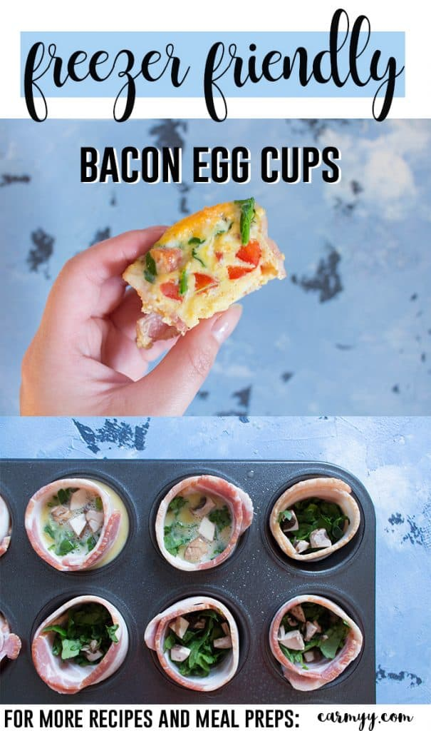 TheseFreezer Friendly Winter Spice Bacon Egg Cups are a delicious way to start off the day! Nutritious and delicious, these egg cups take less than 30 minutes to make and lasts up to a month in the freezer if you want to batch make them!