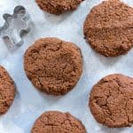 These ginger snap cookies are deliciously chewy with tons of flavour from the molasses and warm spices. These gluten-free, paleo, and vegan ginger snap cookies are sure to be a hit with your friends and family! #PaleoBaking #GlutenFreeBaking #VeganBaking