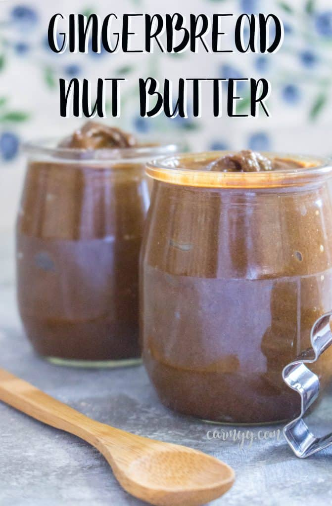 This homemade Gingerbread Nut Butter is smooth and creamy, with the perfect blend of spices to make you think you're about to eat a gingerbread cookie!