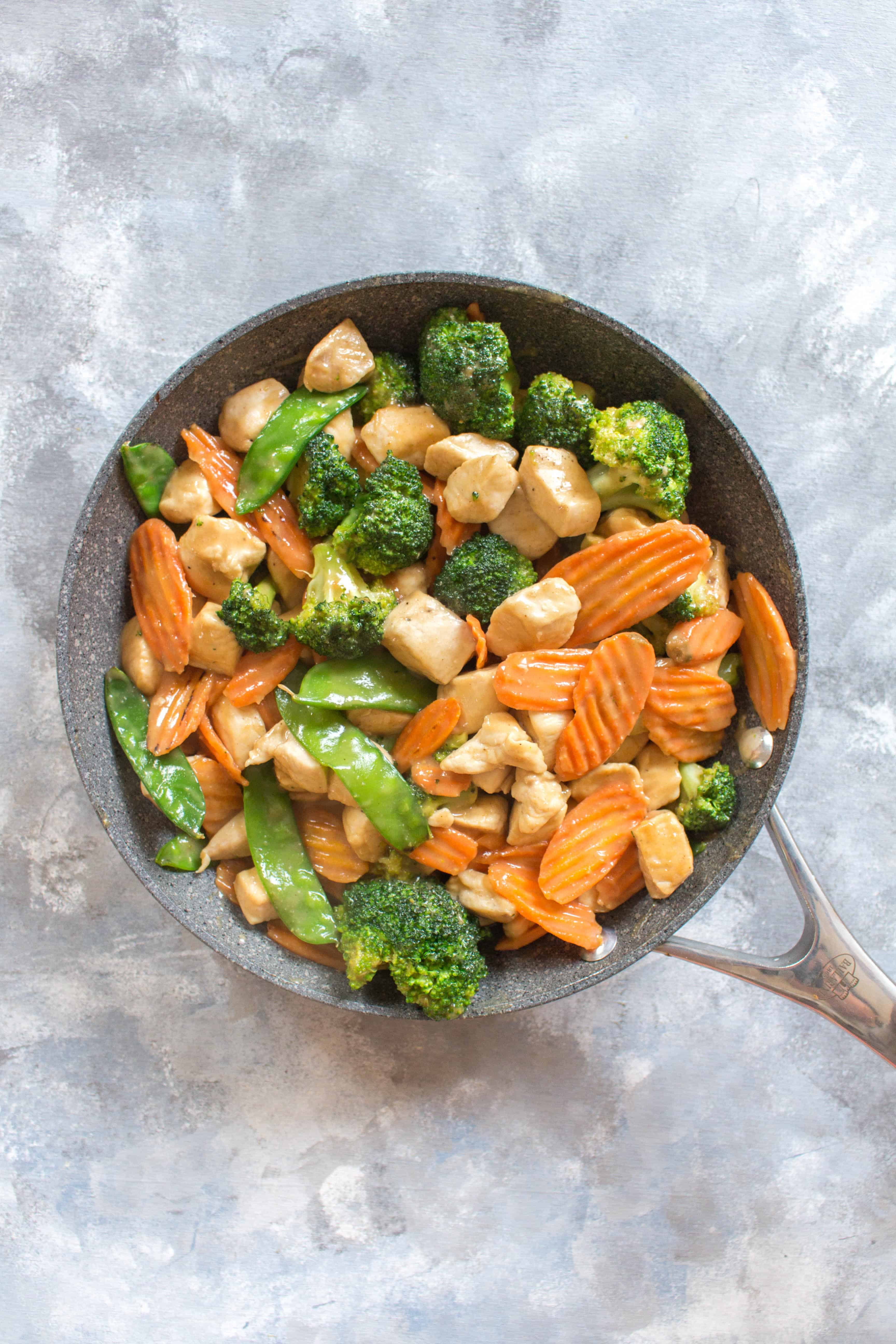 Chicken Stir Fry Meal Prep in a pan