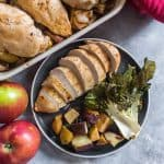 Infused with a delicious sweet apple flavour, thisSweet Miso Apple Chicken with Roasted Bok Choy and Sweet Potatoes is sure to give your dinner a fresh new twist! #easydinner #deliciousdinners