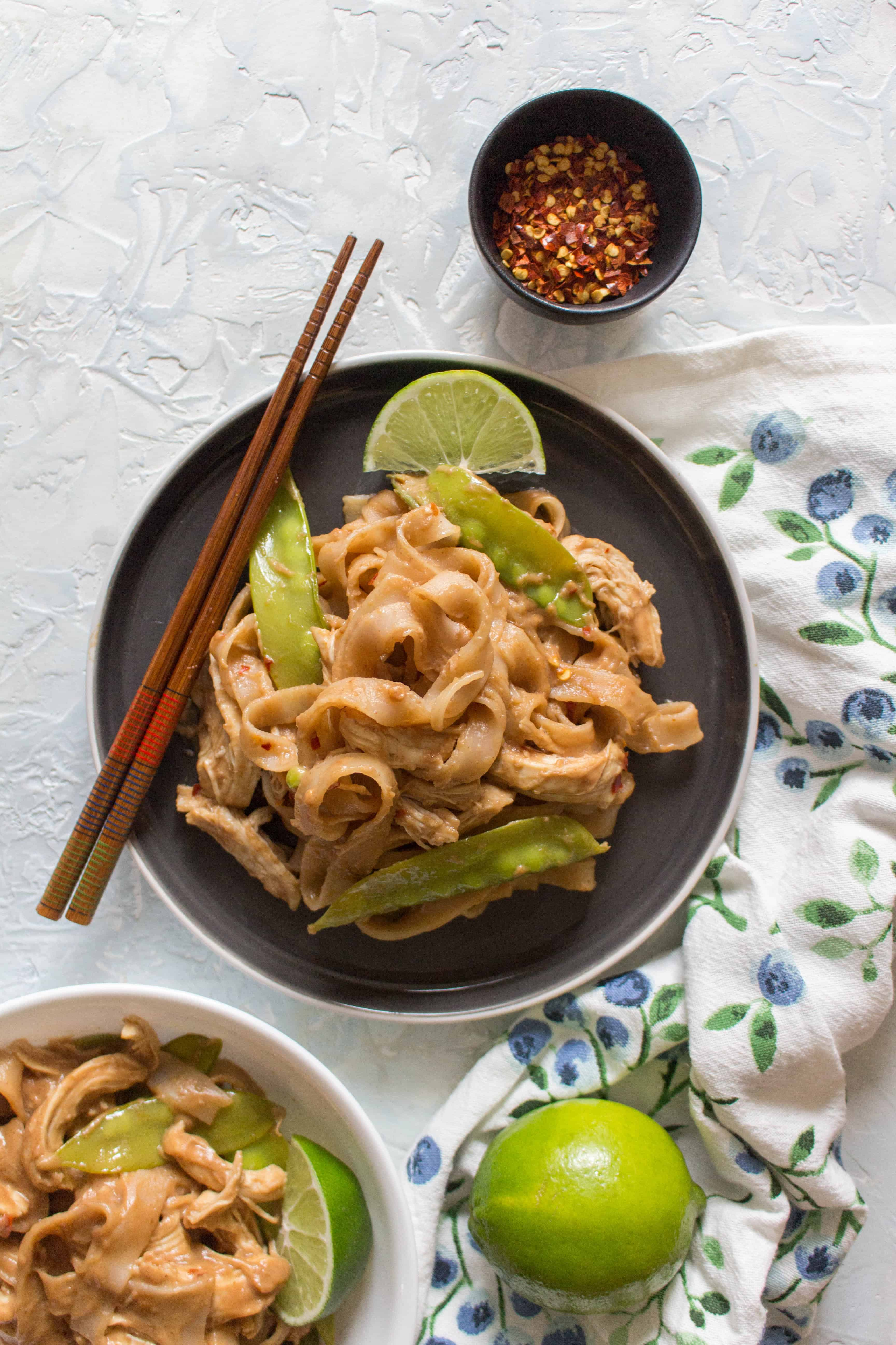 This Healthy Instant Pot Thai Peanut Chicken and Noodles Recipe is the perfect weeknight dinner! This Thai Peanut Chicken and Noodle recipe is so quick, easy, and versatile you're going to want to make all the time! Non-Instant Pot instructions are down below if you don't have an Instant Pot! Video down below!