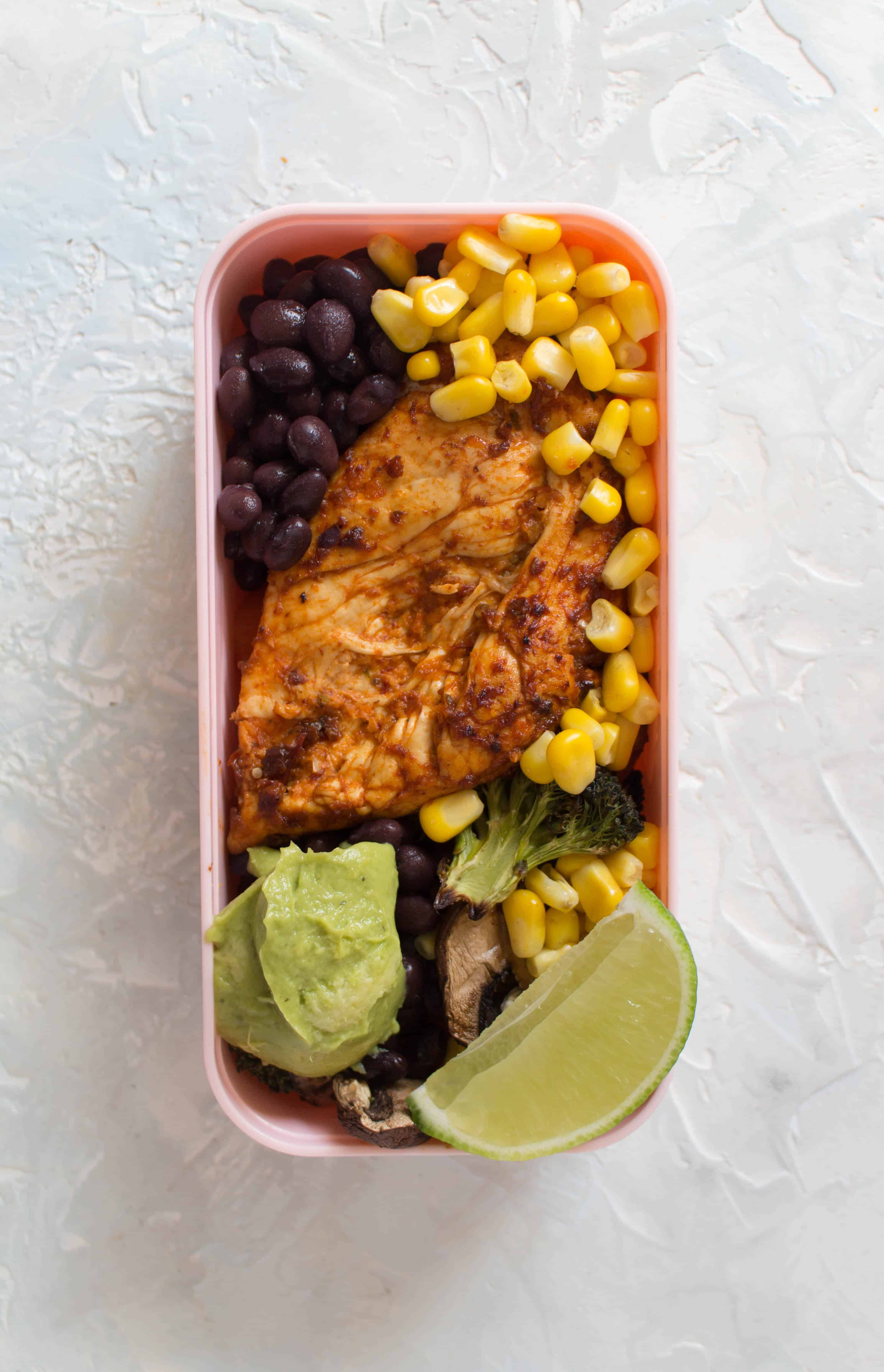 Looking for a little more variety in your weekly meal prep? This chipotle chicken meal prep 4 ways is simple but changes slightly between each dish so you don't have to eat the same exact lunch 4 days in a row without having to do additional work!