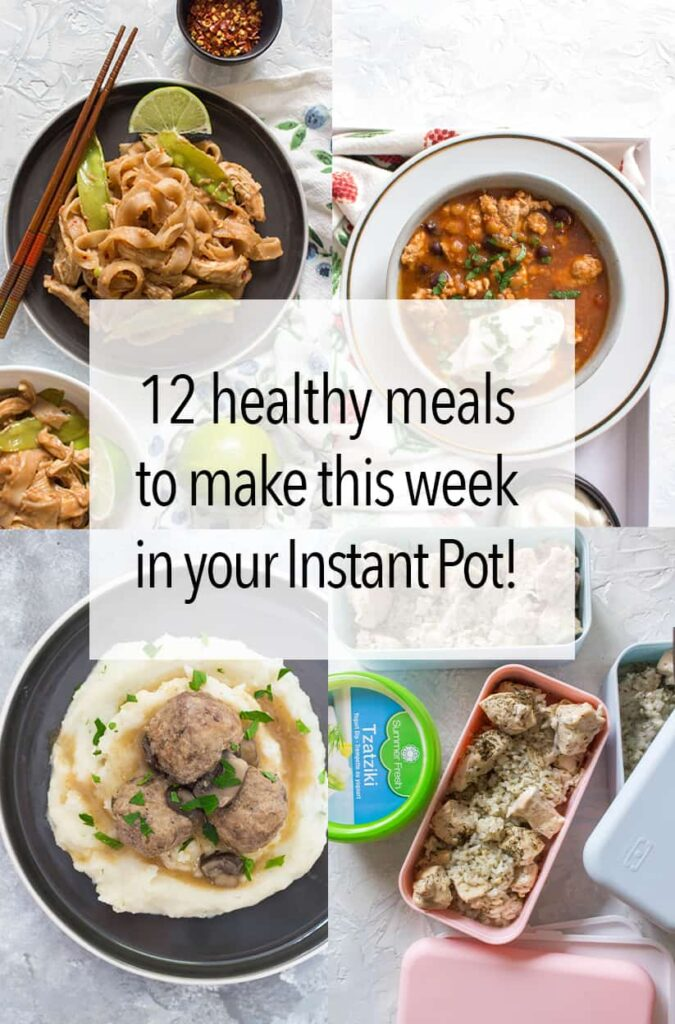 Need some new healthy instant pot recipes for meal prep or for lunch and dinner? Today, I have a round up of the best healthy instant pot recipes that you can make in a jiffy! #instantpotrecipes