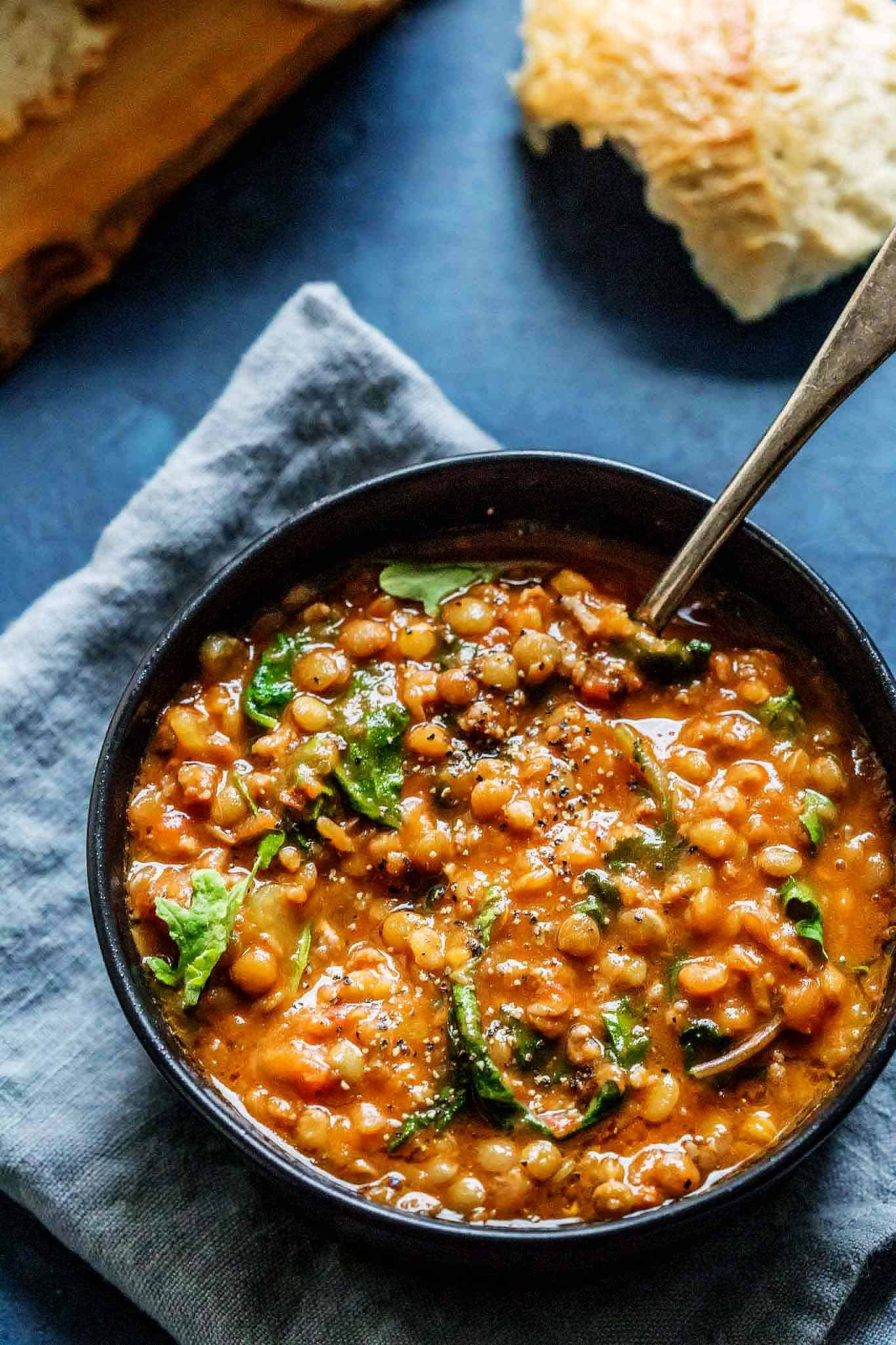 This Instant Pot Lentil Soup with Sausage & Kale comes together quickly with the help of your electric pressure cooker. It's a hearty soup that's perfect for chilly days.