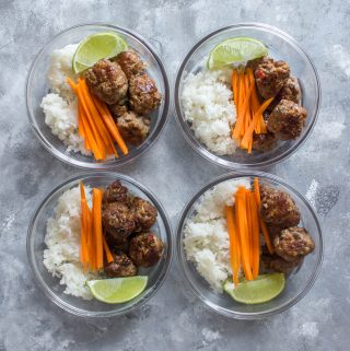 This Bun Cha Inspired Meatball Meal Prep can be made three ways: Instant Pot, Oven, and Stovetop! A classical Vietnamese recipe made easy!