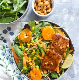 This Easy Hoisin Glazed Salmon Meal Prep is perfect for those who may not be able to heat up their lunches. Delicious whether warm or cold, this earthy but sweet hoisin glazed salmon is just what you need for your meal. #mealprep #salmon