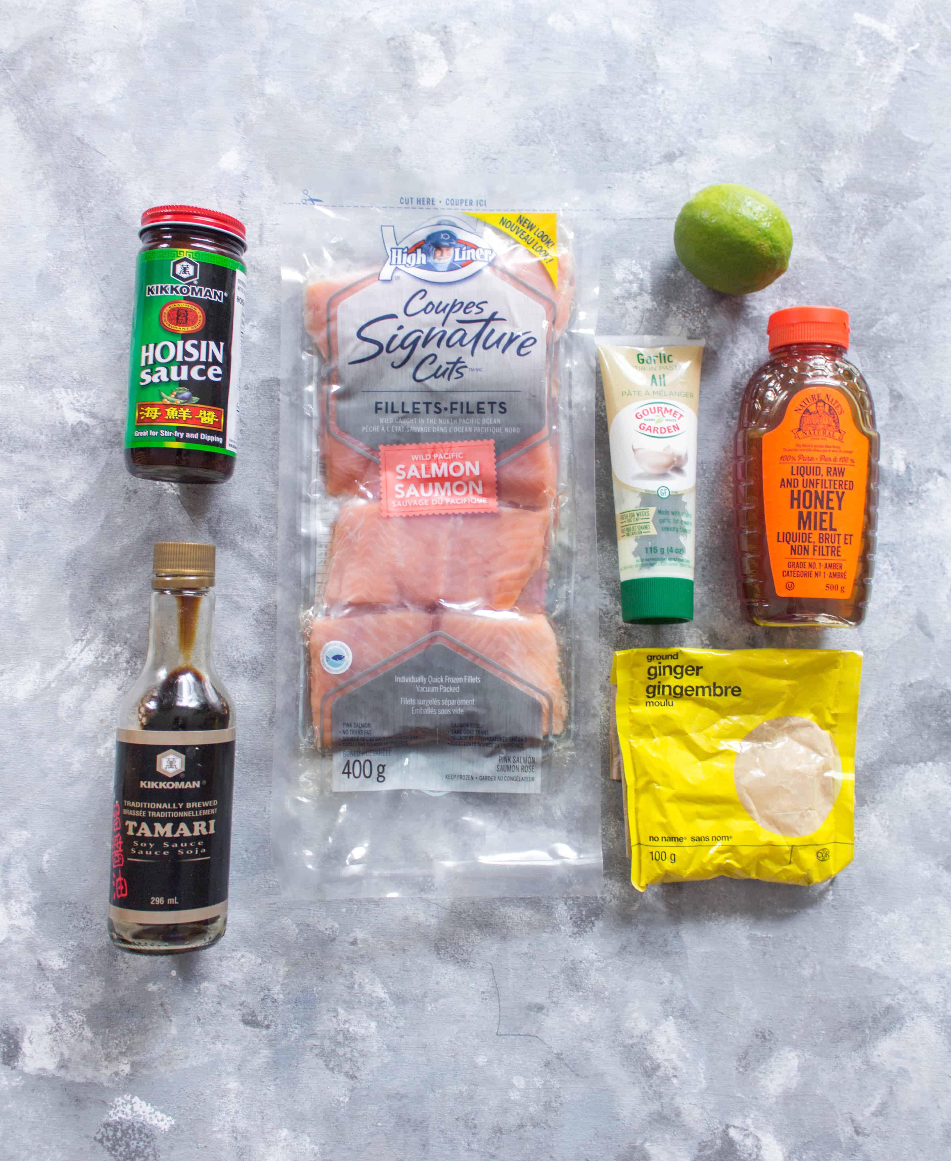 Ingredients for Easy Hoisin Glazed Salmon Meal Prep