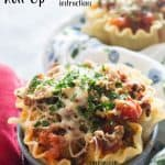 These delicious mushroom lasagna roll up made in the Instant Pot (or the oven!) are so fun and perfect for individual meals or as a dinner for two! #instantpot