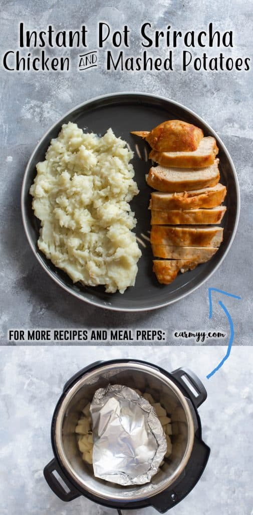 Instant Pot Sriracha Chicken and Mashed Potatoes