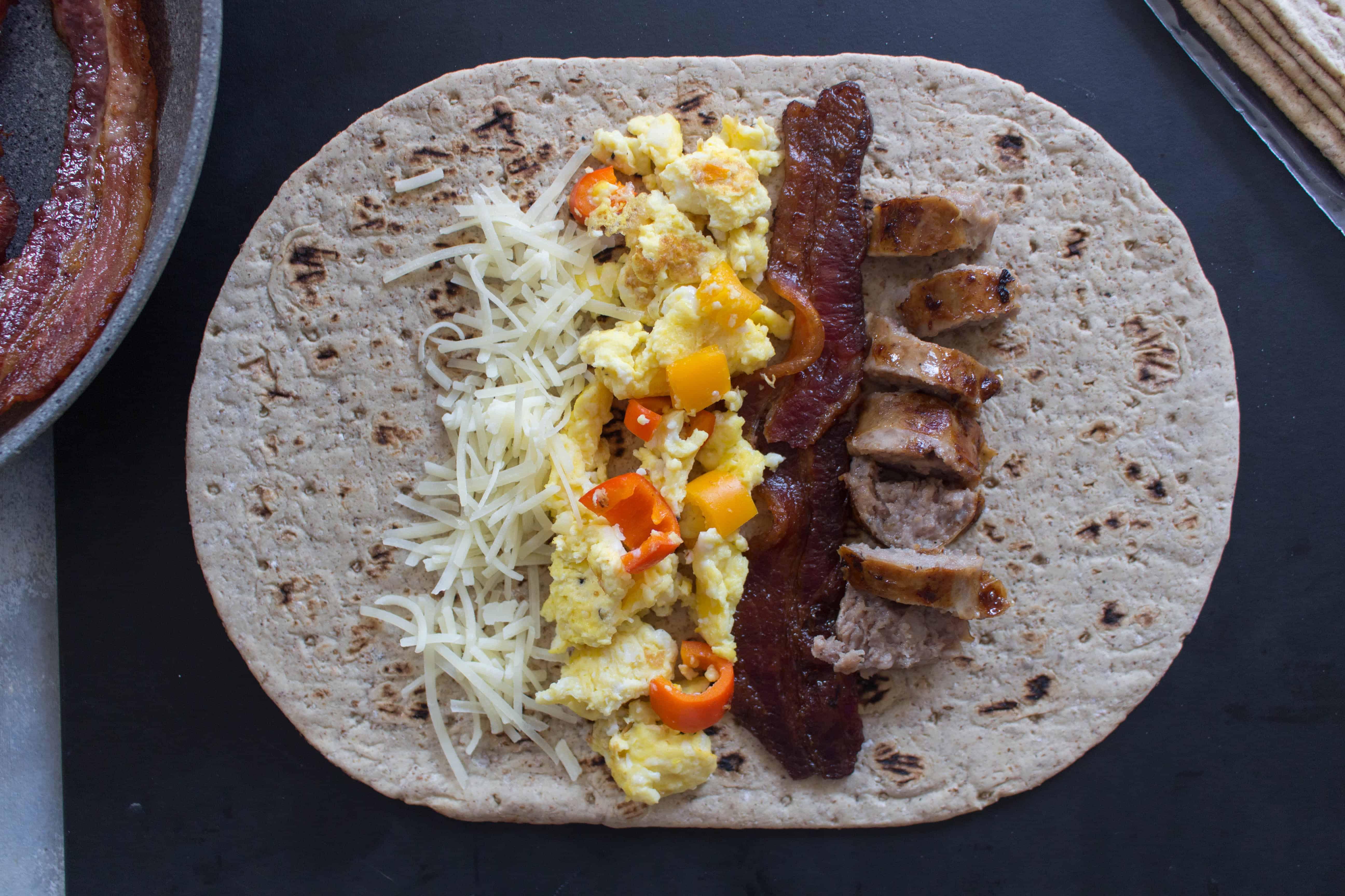 freezer friendly breakfast wraps